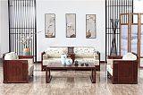 福建木言木语新中式实木家具黄菠萝木实木沙发中式沙发