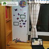 定製磁善家可擦寫健康材料雙層磁性牆貼;