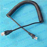 TPU弹性拉伸网线 PU伸缩网线 8芯信号螺旋弹簧线弹弓线