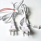 国标ccc认证电源线插头 梅花尾国标电源线 国标两插电源线