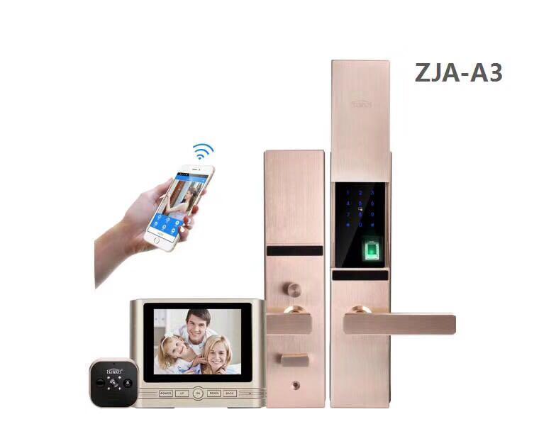 供应ZJA-A3指纹锁+智能猫眼