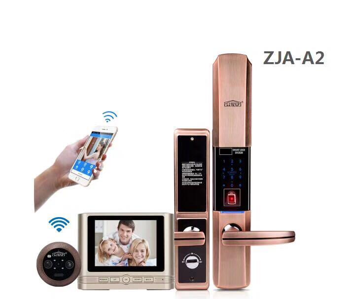 供应ZJA-A2指纹锁+智能猫眼