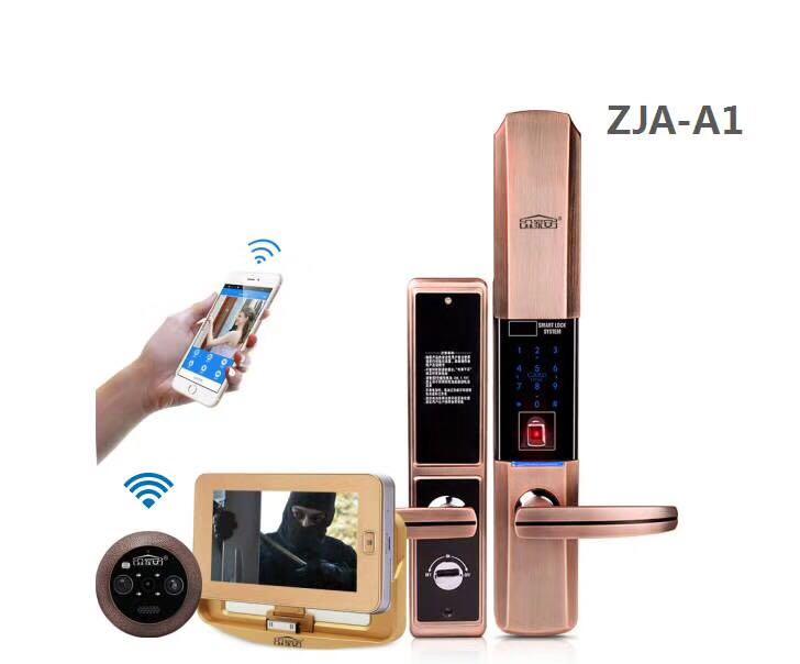 供应ZJA-A1指纹锁+智能猫眼