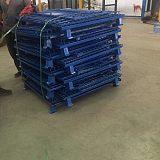 河北仓储笼厂家定制折叠式物流带轮金属蝴蝶笼超市货架铁筐仓库笼