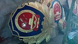 烤漆警徽定做 淮北現貨80厘米貼金警徽低價出售;