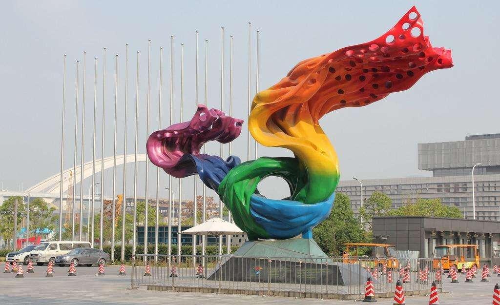 黄山城市中心景观雕塑 道路雕塑制作报价