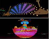 工厂直销LED点光源5/10公分全彩点光源楼体亮化明歌照明防水桥梁轮廓灯跑马