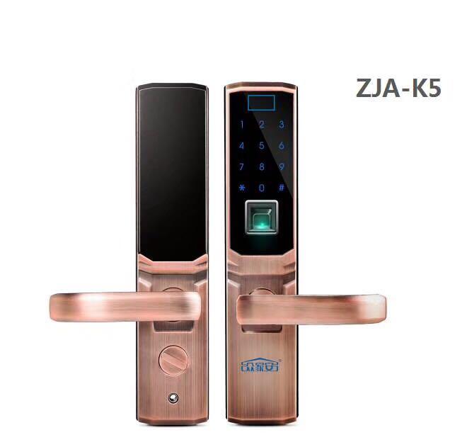 供应ZJA-K5智能指纹锁