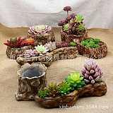 雲南銷售多肉花盆矽膠模具 廠家直銷大型景觀植物花盆玻璃鋼模具;