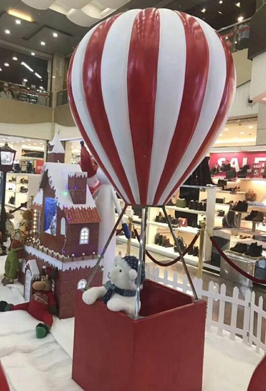 洛阳玻璃钢热气球雕塑 节日庆典装饰摆件