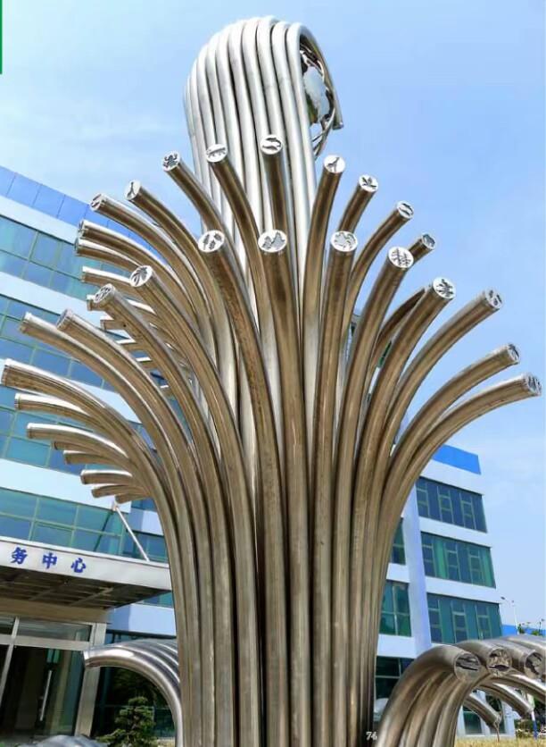 吉林来图定制不锈钢雕塑 抽象艺术户外雕塑