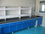 北京钢木实验台 三聚氰胺板材质 钢木中央实验台 操作台
