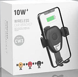 CW3车载无线充 Qi重力感应手机支架 出风口吸盘汽车无线充电器