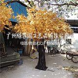 店铺装饰假榕树 祈福树 许愿树人造金色榕树 仿真大型金榕树
