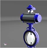 FLWOX适用酸碱介质 气动对夹蝶阀 电动衬氟蝶阀