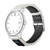 智能表带,智能手环,真皮表带, 智能手表表带,H3白色,机械;