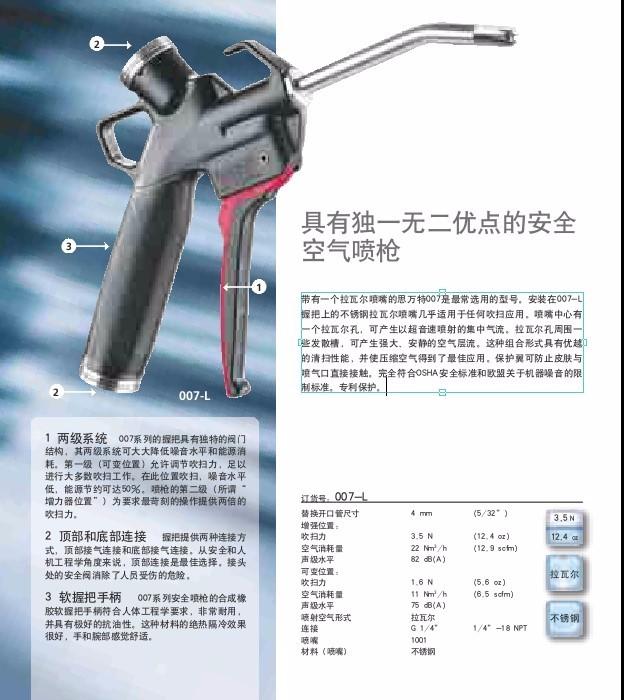 SILVENT/思万特007-L原装进口(钛合金、不锈钢)喷枪、喷嘴