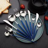 银貂不锈钢镀金镀银筷子 葡萄牙款西餐刀叉;