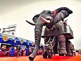 機械大象出租迅游機械大象租賃 泰國風展覽;