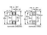轴承钢公制微型法兰轴承