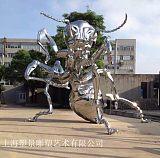 台州不锈钢镜面蚂蚁雕塑 园林小区装饰订制工厂;