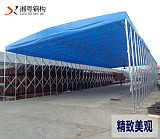 廣東江門定製倉儲推拉篷大型臨時倉庫移動帳篷大排檔雨棚熱銷中;