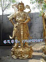 大型开业乔迁贺礼店铺摆件伽蓝韦陀菩萨摆件横刀铜关公雕塑;