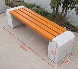 公园椅大理石座椅户外石凳子防腐实木石头长椅子广场大理石板凳