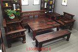老船木沙发椅组合中式复古实木沙发