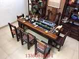 老船木茶桌椅组合流水茶桌实木茶台循环茶几功夫茶桌