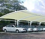 供陕西膜结构车棚和西安停车棚膜结构效果图