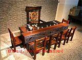 老船木茶桌椅組合辦公室茶台現代新中式家具洽談桌泡茶桌功夫茶幾;