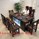 老船木茶桌椅组合实木中式功夫茶台户外阳台泡茶桌简约原木家具;