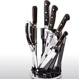 批發不鏽鋼廚房七件套刀菜刀架套裝廠家;