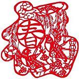 新年剪纸中国福字贴定制 多样式手工剪纸窗花;
