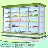 惠州水果冷柜品牌哪个好?2米欧款外机带门风幕柜保鲜柜厂家
