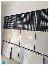 瓷砖冲孔板安装冲孔板瓷砖展架安装