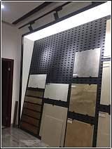 冲孔板金属展架 瓷砖洞洞板展示架厂家