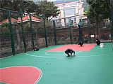 广东篮球场防滑地坪漆 专业室外标准篮球场地坪施工公司