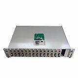 16槽铝合金双电源光纤收发器机架
