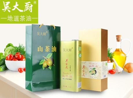 吳大廚山茶油1.6l禮盒裝茶籽油食用油月子油茶油