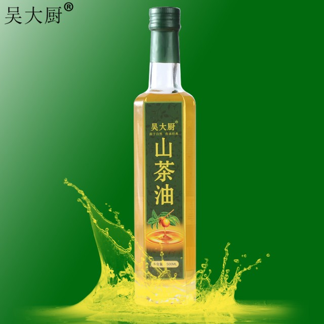 吳大廚山茶油500ml原香山茶籽油食用油月子油茶油