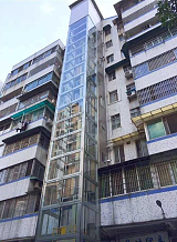 钢结构电梯井道;