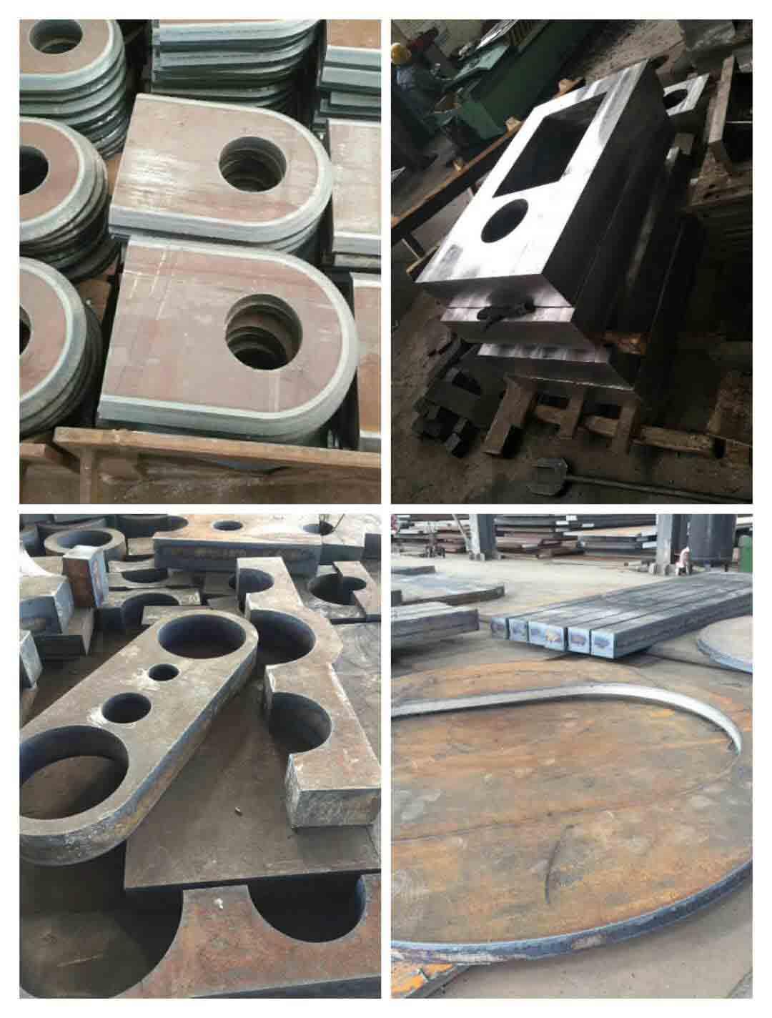 切割舞鋼厚軸承座 切割舞鋼法蘭盤 切割牌坊件 切割齒輪箱體