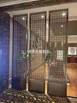 特攻简约现代金属玄关屏风隔断餐厅客厅装饰不锈钢新中式整装;
