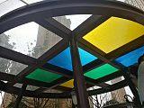 廣州商場玻璃頂貼彩色隔熱膜