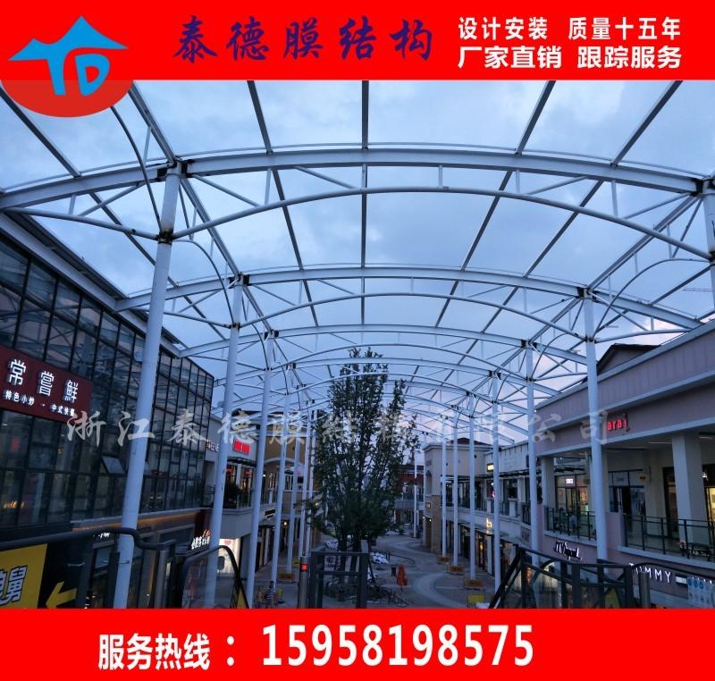 网球场雨棚钢结构遮阳棚停车棚充电站雨棚钢膜结构建筑