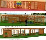 南宁幼儿园户外大型体能行走组合 南宁幼儿园行走组合 攀爬架;