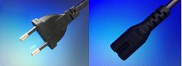 两插+八字尾 L=1.2M电源线