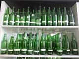 翠绿玻璃瓶,翠绿酒瓶,绿色玻璃瓶;